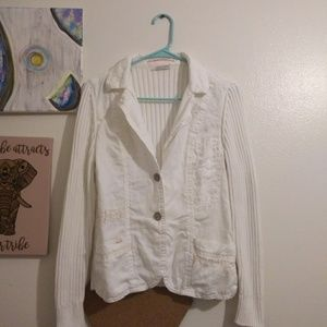 White sweater jacket